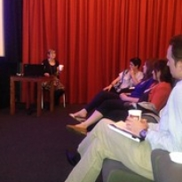 """Heather Maitland talks to delegates at Cultural Cinema Day • <a style=""""font-size:0.8em;"""" href=""""http://www.flickr.com/photos/124633278@N08/14463517463/"""" target=""""_blank"""">View on Flickr</a>"""